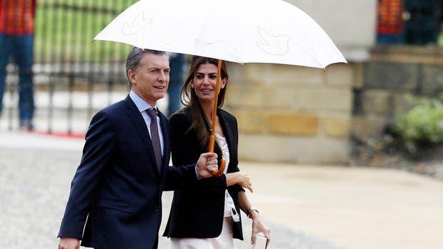 La primera dama Juliana Awada tuvo ayer una agenda paralela a la de su marido en su paso por Colombia