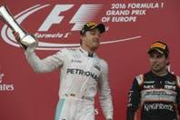 "GP de Europa: Rosberg se tomó revancha y ""Checo"" Pérez terminó tercero"