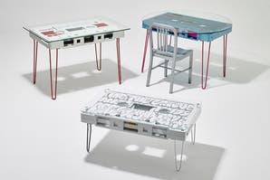 Mesas y música retro