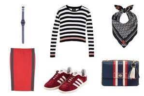 Más onda por menos plata: prendas y accesorios con rayas