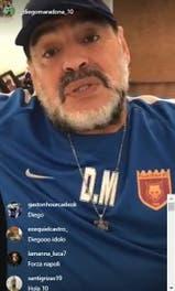 Maradona dispara contra todos en una transmisión en vivo por Instagram