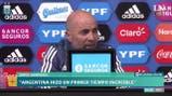 "Sampaoli: ""Argentina hizo un primer tiempo increíble"""