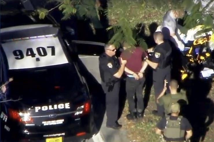 El agresor fue atrapado por la policía