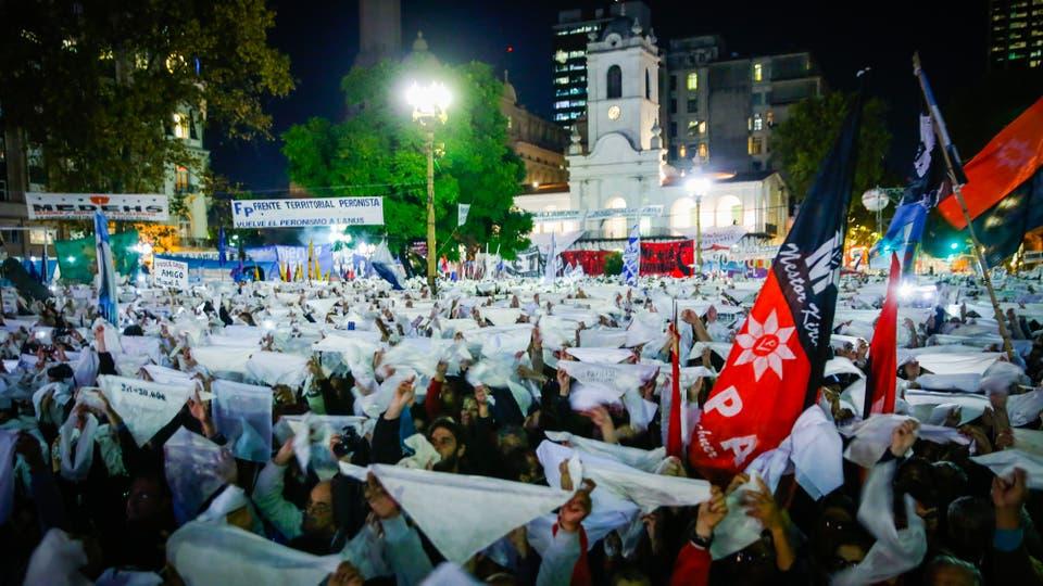 Marcha contra el 2x1. Foto: LA NACION / Marcelo Manera