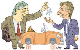 Néstor Kirchner y Mauricio Macri