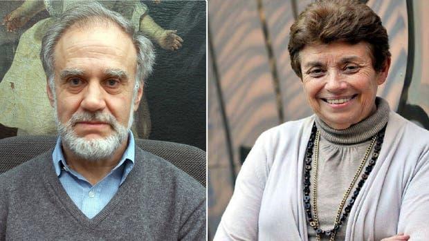 Aída Kemelmajer y Emilio Burucúa