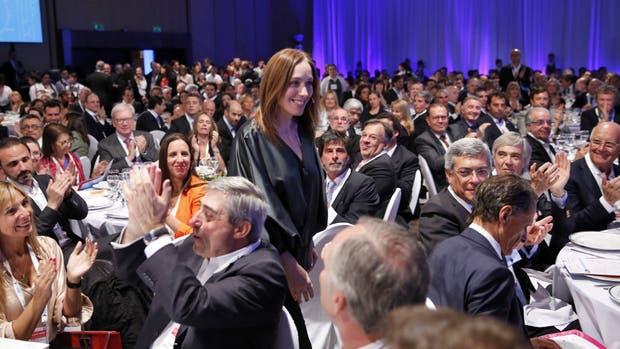 Vidal fue recibida como si se tratara de una celebridad en el auditorio del Sheraton