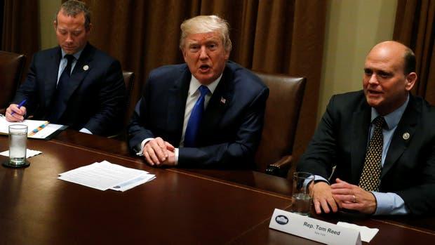 El presidente de Estados Unidos, Donald Trump, durante la reunión bipartidista, en la Casa Blanca