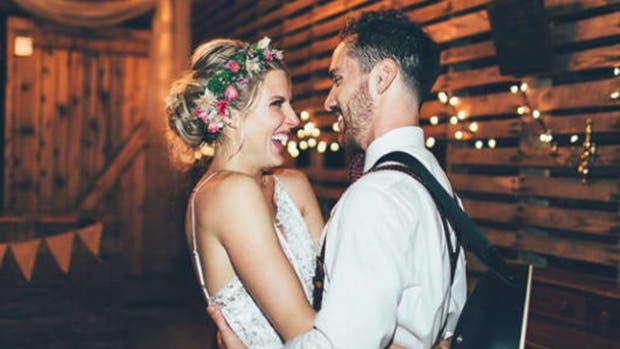 Blake y Kevin el día de su casamiento