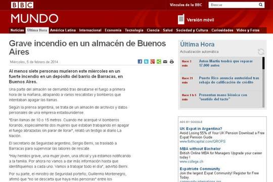 BBC Mundo, de Gran Bretaña. Foto: Archivo