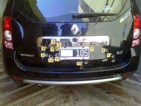 Estado en el que quedó el auto de los inspectores de la AFIP presuntamente atacados