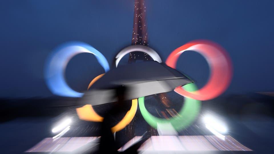 París festeja la realización de los Juegos Olímpicos 2024 en Francia. Foto: AFP / Christophe Simon