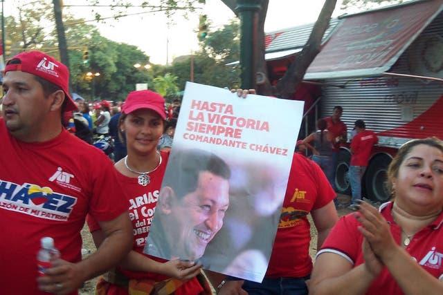 Simpatizantes de Chávez fueron a dar el último adiós con alegría