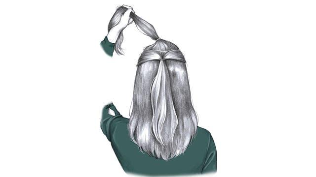 Un peinado con gomitas