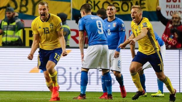 El grito de Johansson, autor del único gol del partido