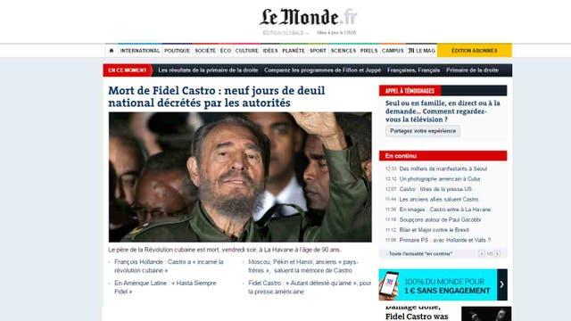 Presidente Maduro sobre muerte de Castro: