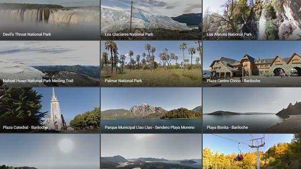 Google reúne en un único lugar todos los puntos de interés de la Argentina que fueron registrados por el servicio de vistas panorámicas Street View