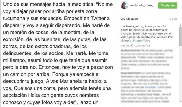 Marianela Mirra replicó las duras palabras que Jorge Rial le dijo hace tiempo atrás