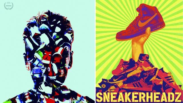 los posters con los que se difundió el documental Sneakershead, sobre los fanáticos y el negocio de las zapatillas