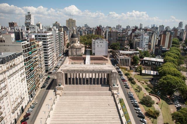 El Monumento a la Bandera desde arriba. Rosario