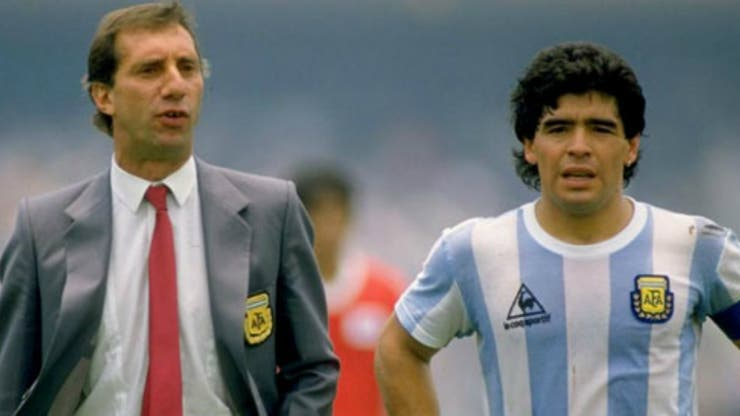 Bilardo y Maradona en México 86