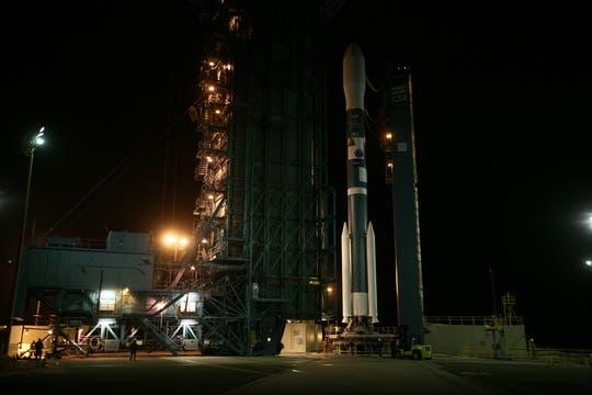 El más ambicioso proyecto espacial argentino fue lanzado esta desde la base espacial de Vandenberg, EE.UU.. Foto: LA NACION / Maxie Amena / Enviado Especial a Lompoc, California