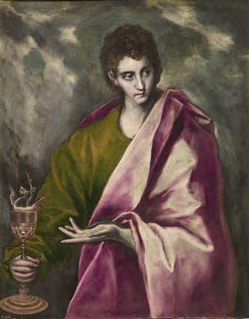 San Juan Evangelista, óleo sobre tela de El Greco, colección Museo del Prado