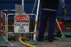 Escape de gas en Retiro, frente a la Plaza San Martín. El incidente se produjo esta madrugada, por una válvula en el sistema de gas, y ya está controlado