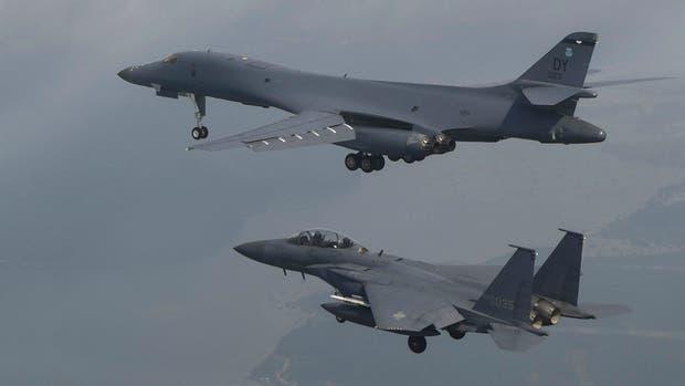 Trump le responde a Kim Jong-un y envía dos bombarderos supersónicos a Norcorea