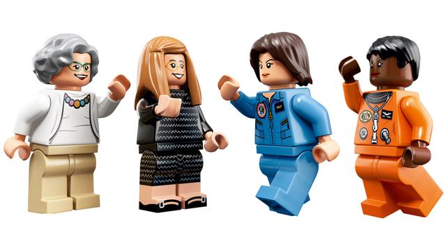 De izquierda a derecha: Nancy Grace Roman, Margaret Hamilton, Sally Ride y Mae Jemison. (Crédito: Lego)