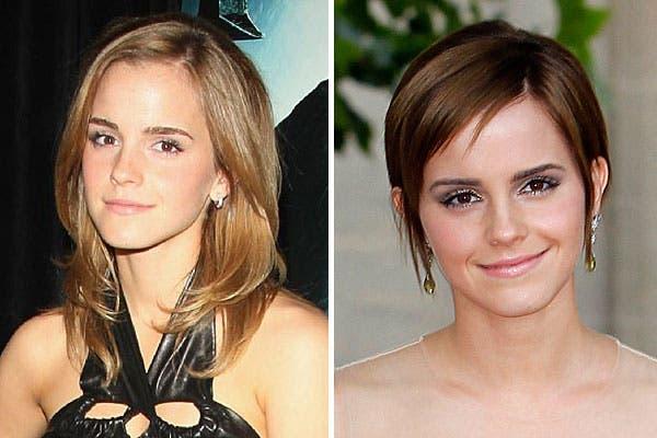 Otra actriz que nos dejó con la boca abierta con su cambio de look fue Emma Watson. ¡Le quedó divino!. Foto: Archivo