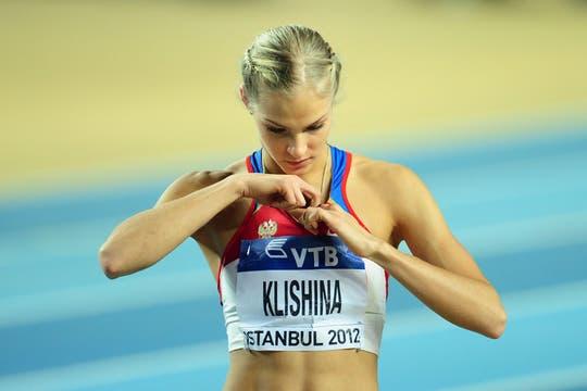 La rusa Darya Klishina, la bella atleta rusa que compite en el salto en largo. Foto: AFP