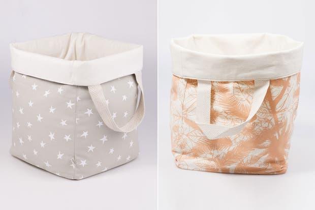 Accesorios De Baño Toto: cestos y guarda todo de tela aportan color de la mano de Cosa Bonita