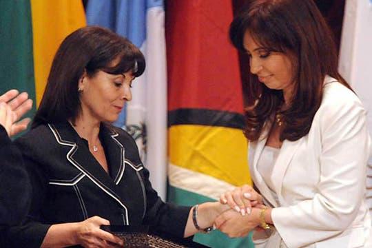 En un encuentro con la presidenta Cristina Kirchner. Foto: Facebook / Susana Trimarco