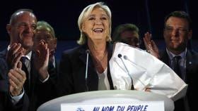 Le Pen celebró el resultado y se mostró confiada de cara al ballottage