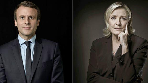Emmanuel Macron y Marine Le Pen ganarle a