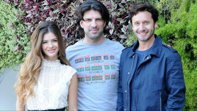 Eugenia y Benjamín junto al director de la película, Nicolás Tuozzo