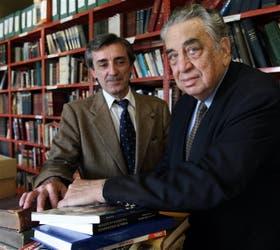 Héctor Di Marco (der.) y Carlos Arias