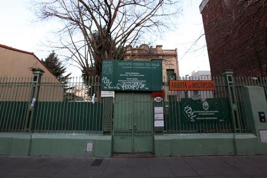 El colegio Virgen del Valle donde estudiaba Angeles Rawson. Foto: LA NACION / Matias Aimar