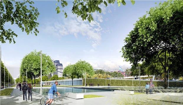 El nuevo parque lineal contribuirá a ampliar el tiempo de estada de los visitantes en esa área