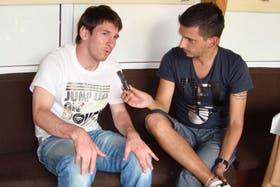 El periodista tenía buena relación con Messi