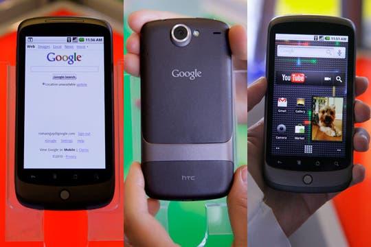 El Nexus One, en detalle. Foto: AP