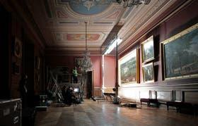 Los expertos de Google trabajando en el Palacio de Fontainebleau.