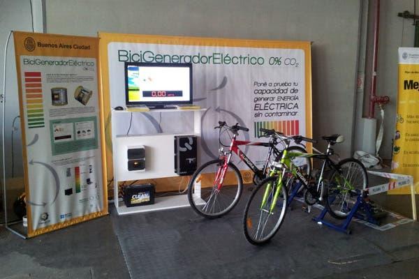Las dos bicicletas junto al generador