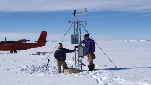 Una estación automática en la Antártida