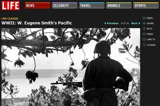 El trabajo de Eugene Smith durante la Segunda Guerra Mundial, ahora disponible en Internet  . Foto: Gentileza Life