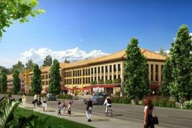 Render del desarrollo ubicado en Villa Rosa