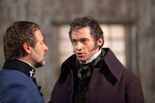 Hugh Jackman y Russell Crowe, en Los Miserables. Foto: USA Today