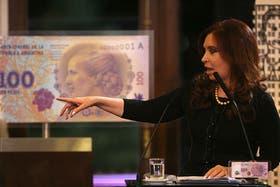 La Presidenta presentó en julio el billete con la imagen de Evita