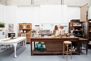 El espacio de trabajo de una estilista